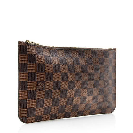 Louis Vuitton Damier Ebene Neverfull MM Pochette
