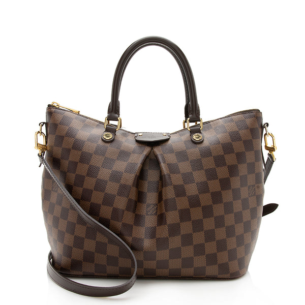 Louis Vuitton Damier Ebene Siena PM Satchel (SHF-12305)