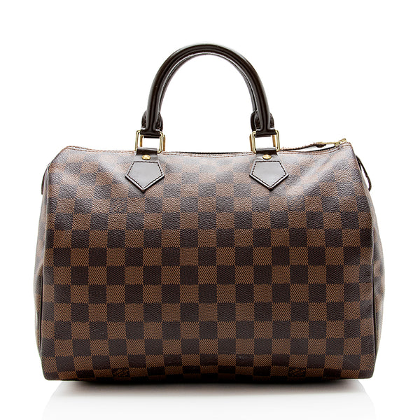 Louis Vuitton Damier Ebene Speedy 30 Satchel (SHF-14075)