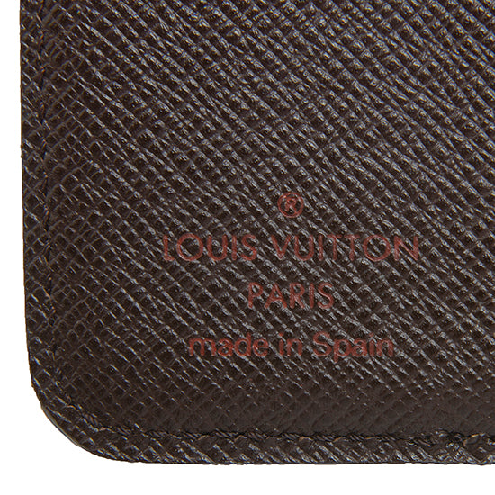 Louis Vuitton Damier Ebene Zipped Compact Wallet