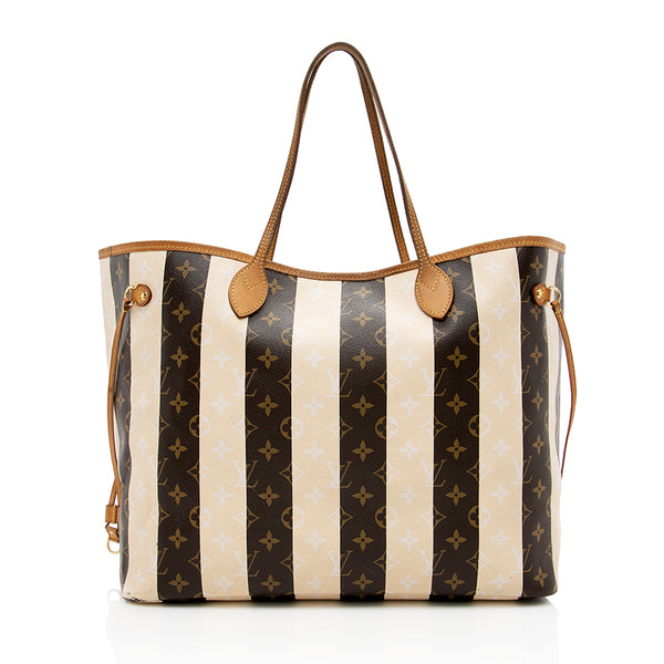 Louis Vuitton Limited Edition Rayures Neverfull GM Tote (SHF-14033)