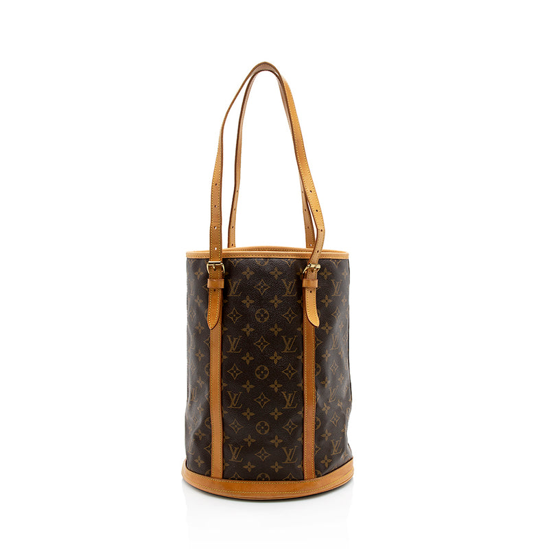 Louis Vuitton Monogram Canvas Bucket GM Tote (SHF-11800)
