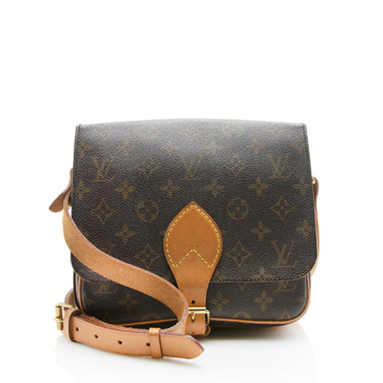 Louis Vuitton Vintage Monogram Canvas Cartouchiere MM Shoulder Bag