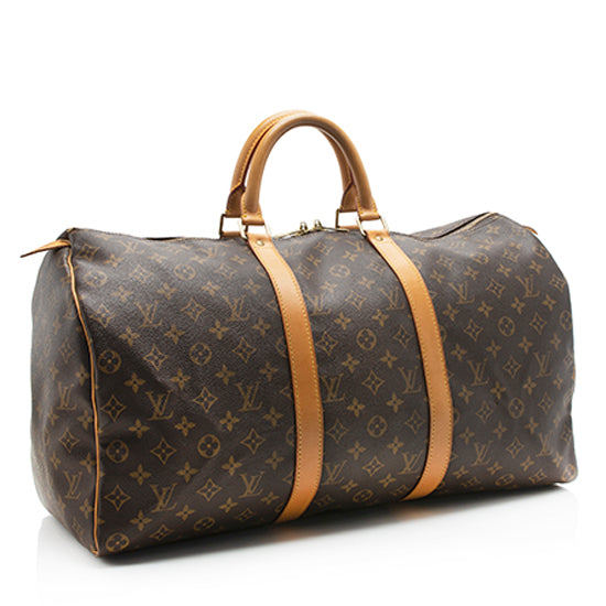 Louis Vuitton Vintage Monogram Canvas Keepall 50 Duffel Bag