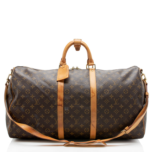 Louis Vuitton Monogram Canvas Keepall 55 Bandouliere Duffel Bag