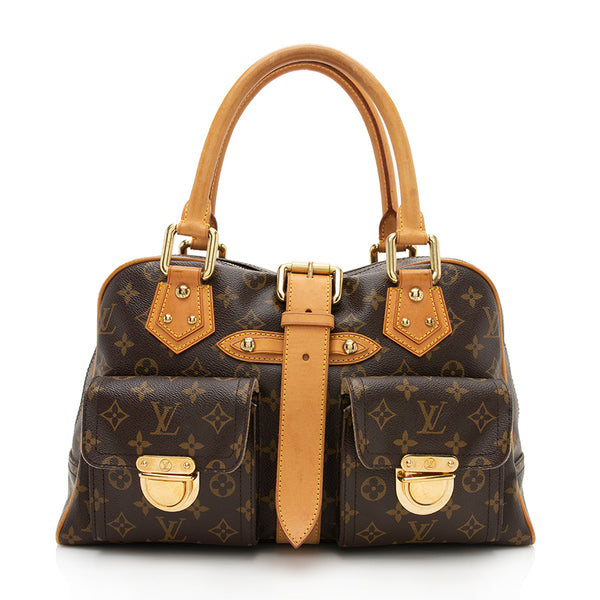 Louis Vuitton Monogram Canvas Manhattan GM Satchel (SHF-12312)