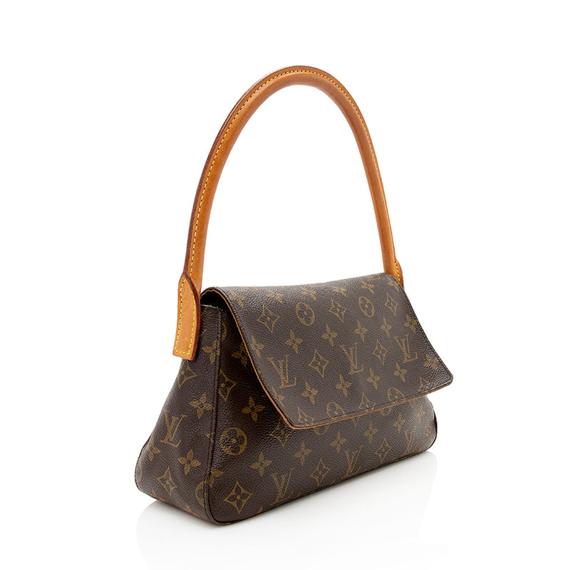 Louis Vuitton Monogram Canvas Mini Looping Shoulder Bag (SHF-12148)