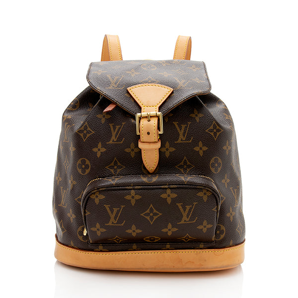 Louis Vuitton Monogram Canvas Montsouris PM Backpack (SHF-12285)
