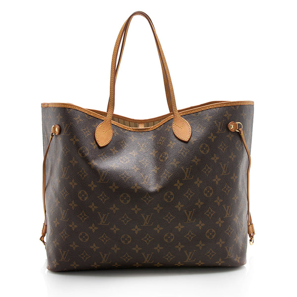 Louis Vuitton Monogram Canvas Neverfull GM Tote (SHF-12906)