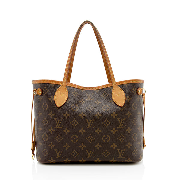 Louis Vuitton Monogram Canvas Neverfull PM Tote (SHF-12345)
