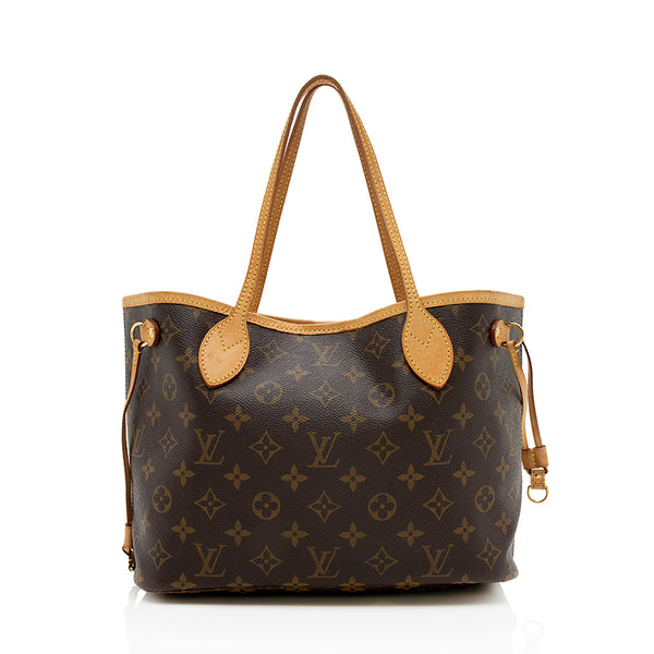 Louis Vuitton Monogram Canvas Neverfull PM Tote (SHF-12988)