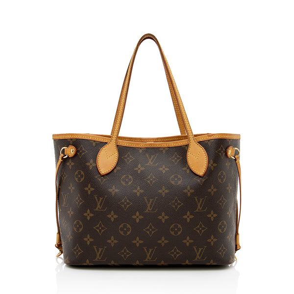 Louis Vuitton Monogram Canvas Neverfull PM Tote (SHF-13852)
