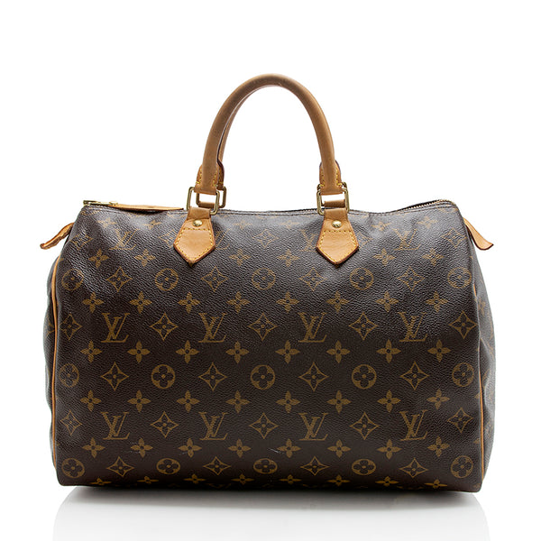 Louis Vuitton Monogram Canvas Speedy 35 Satchel (SHF-12315)