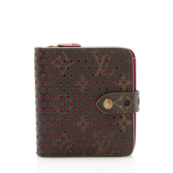 Louis Vuitton Monogram Perforated Compact Zippy Wallet