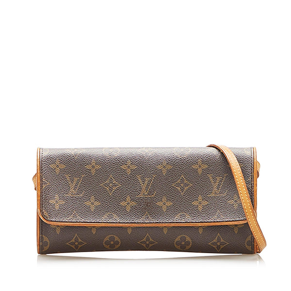 Louis Vuitton Monogram Pochette Twin GM (SHG-17896)