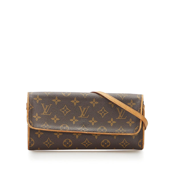 Louis Vuitton Monogram Pochette Twin GM (SHG-18532)
