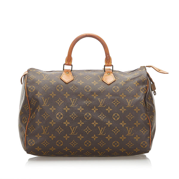 Louis Vuitton Monogram Speedy 35 (SHG-18735)