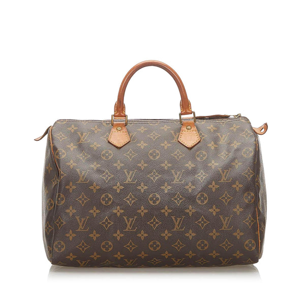 Louis Vuitton Monogram Speedy 35 (SHG-18872)