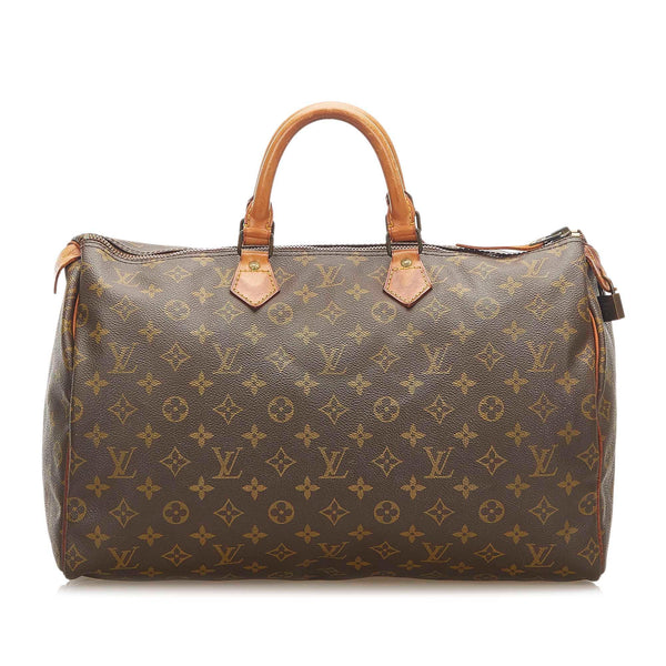 Louis Vuitton Monogram Speedy 40 (SHG-18600)