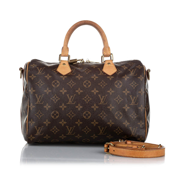 Louis Vuitton Monogram Speedy Bandouliere 30 (SHG-18702)