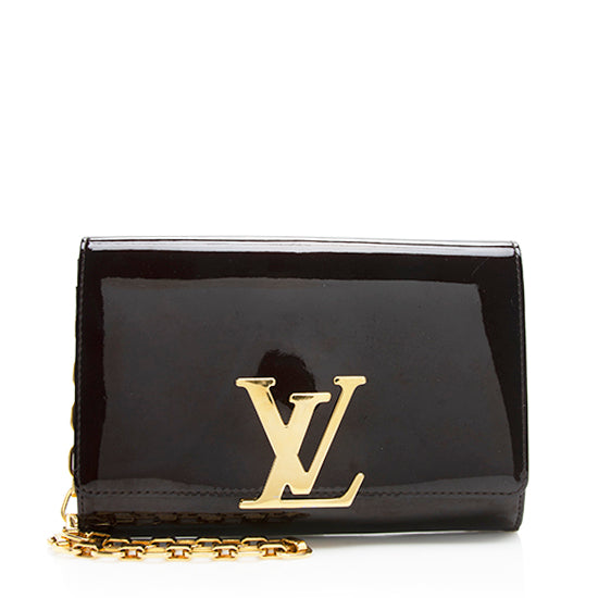 Louis Vuitton Patent Leather Louise Shoulder Bag