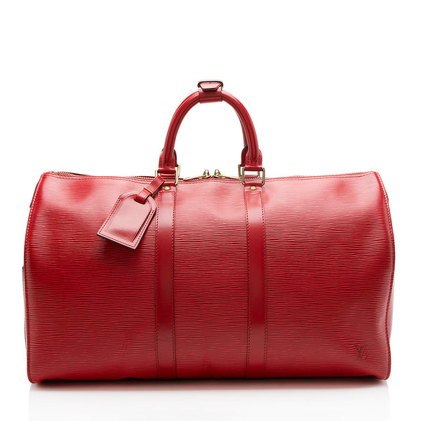Louis Vuitton Vintage Epi Leather Keepall 45 Duffel Bag (SHF-11812)