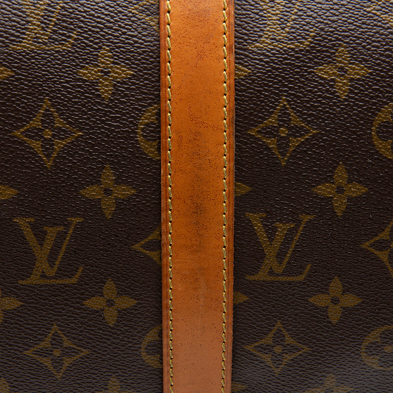 Louis Vuitton Vintage Monogram Canvas Keepall 50 Bandouliere Dufflel Bag (SHF-11856)