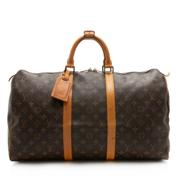 Louis Vuitton Vintage Monogram Canvas Keepall 50 Duffel Bag (SHF-11865)