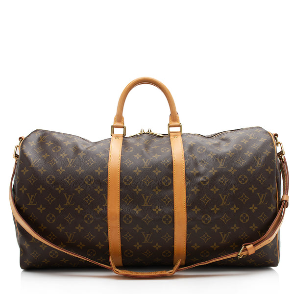 Louis Vuitton Vintage Monogram Canvas Keepall 55 Bandouliere Duffel Bag