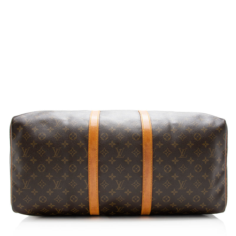 Louis Vuitton Vintage Monogram Canvas Keepall 55 Duffel Bag (SHF-13769)