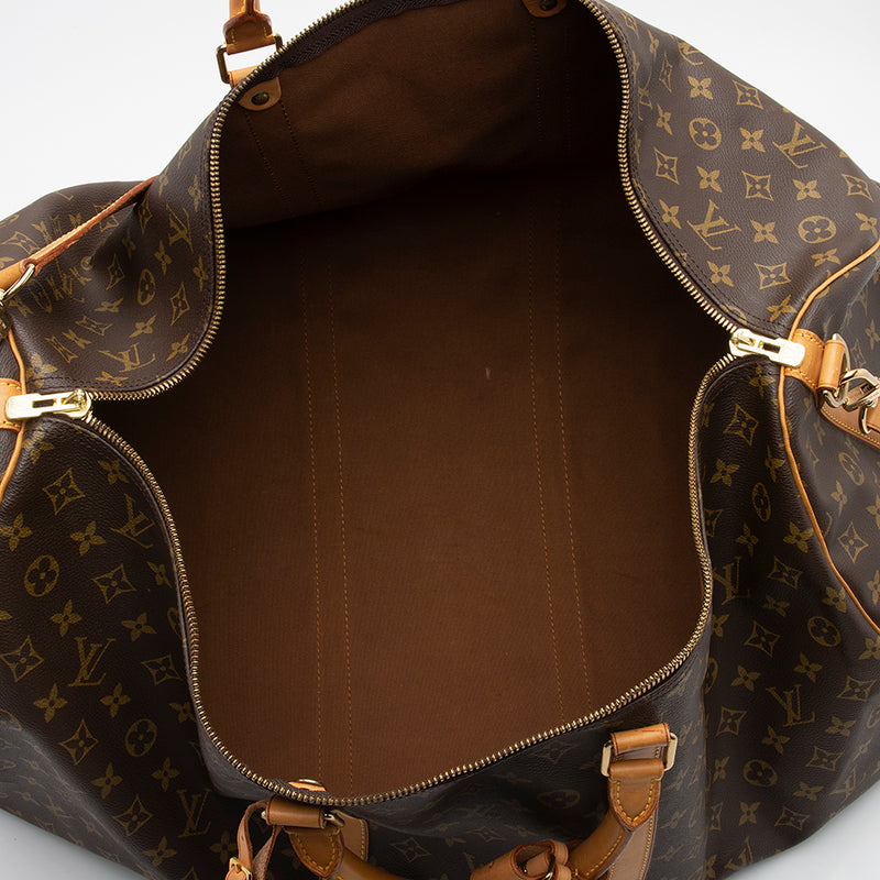 Louis Vuitton Vintage Monogram Canvas Keepall 60 Bandouliere Duffle Bag (SHF-11773)