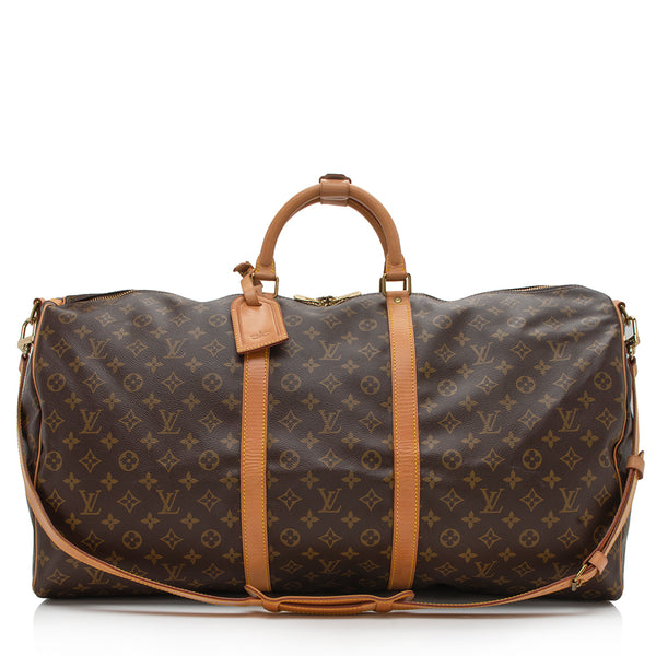 Louis Vuitton Vintage Monogram Canvas Keepall Bandouliere 60 Duffel Bag (SHF-12993)