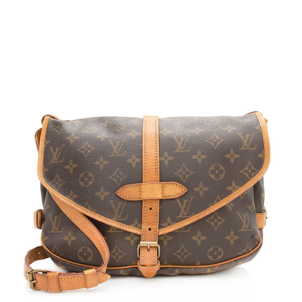 Louis Vuitton Vintage Monogram Canvas Saumur 30 Messenger Bag - FINAL SALE (SHF-11218)