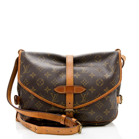 Louis Vuitton Vintage Monogram Canvas Saumur 30 Messenger Bag