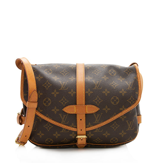 Louis Vuitton Vintage Monogram Canvas Saumur 30 Shoulder Bag