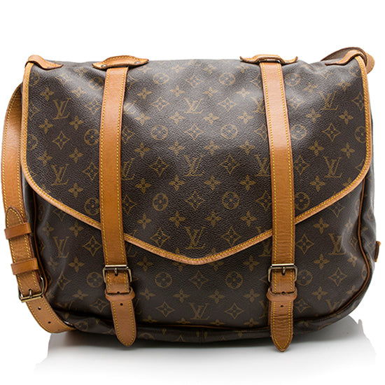 Louis Vuitton Vintage Monogram Canvas Saumur 43 Messenger Bag