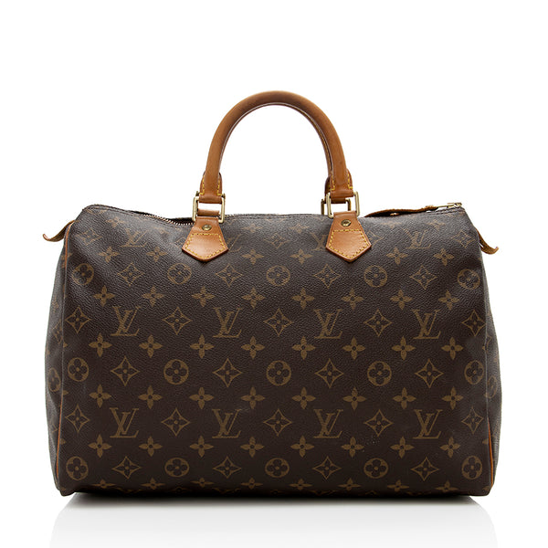 Louis Vuitton Vintage Monogram Canvas Speedy 35 Satchel (SHF-13916)