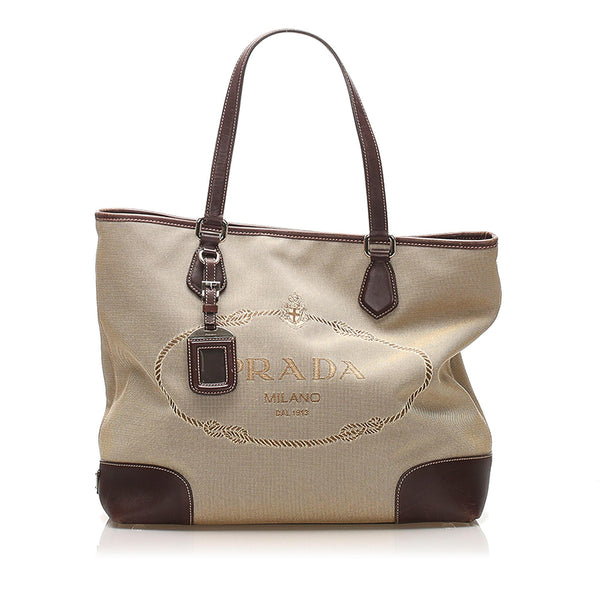 Prada Canapa Canvas Tote Bag (SHG-12371)
