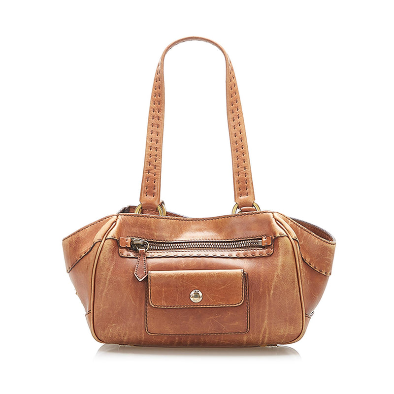 Prada Leather Shoulder Bag (SHG-16923)