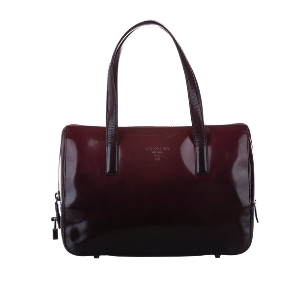 Prada Ombre Glace Leather Handbag (SHG-12361)