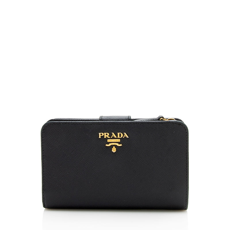 Prada Saffiano Leather Medium Wallet (SHF-11573)