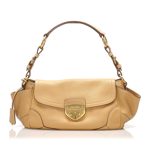 Prada Vitello Daino Shoulder Bag (SHG-12375)