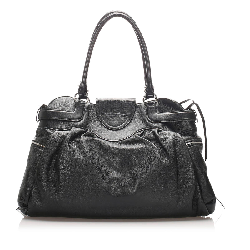 Salvatore Ferragamo Leather Gancini Shoulder Bag (SHG-10088)