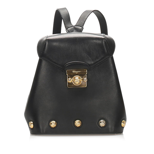 Salvatore Ferragamo Leather Crossbody Bag (SHG-11820)