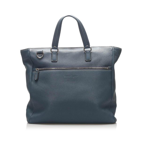 Salvatore Ferragamo Leather Satchel (SHG-11886)