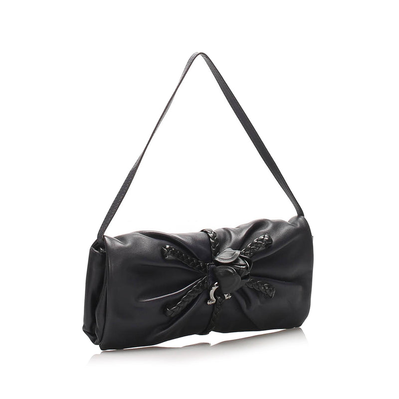 Salvatore Ferragamo Leather Shoulder Bag (SHG-10200)