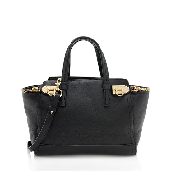Salvatore Ferragamo Leather Verve Convertible Tote
