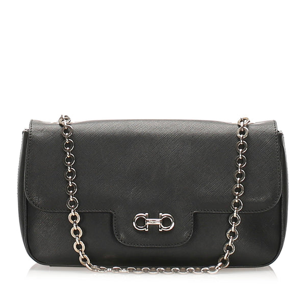 Salvatore Ferragamo Luciana Leather Shoulder Bag (SHG-11925)