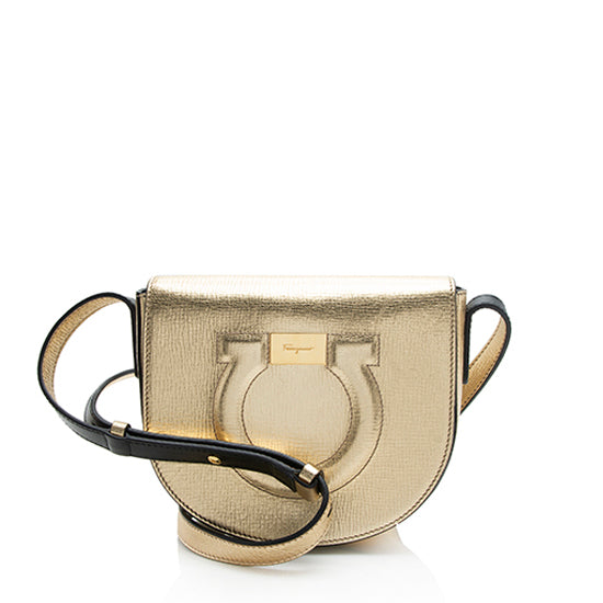 Salvatore Ferragamo Metallic Calfskin Shoulder Bag