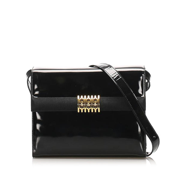 Salvatore Ferragamo Patent Leather Crossbody Bag (SHG-11889)
